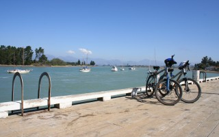 Biking at Mapua Wharf